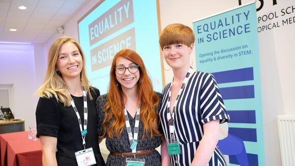 From left, winners Gala Garrod, Natalie Lissenden and Katherine Gleave